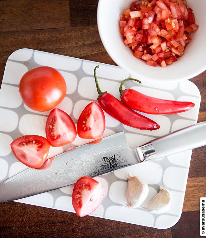 Salsa verde ja salsa roja